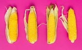 Corn Creative Food Background. Healthy Food. Vegetarian Food. Nutritious Food. Vegetable Food. Food. poster