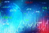 Financial Stock Market Graph Illustration , Business Investment And Stock Future Trading, Stock Mark poster
