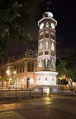 image of guayaquil  - clock tower night scene on malecon 2000 guayaquil ecuador south america - JPG