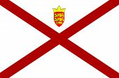 Flag Of The Channel Island Of Jersey poster