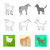 Vector Illustration Of Breeding And Kitchen Icon. Collection Of Breeding And Organic Stock Vector Il poster