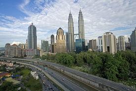 stock photo of kuala lumpur skyline  - Malaysian capital overview of Kuala Lumpur skyline - JPG
