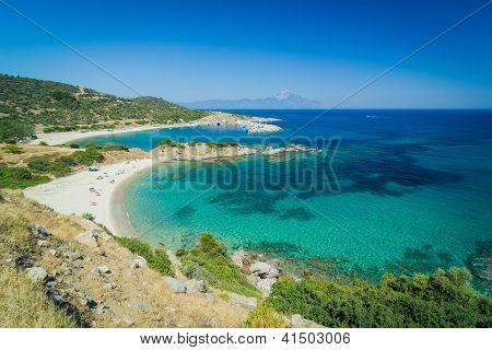 Beautiful beach lagoon