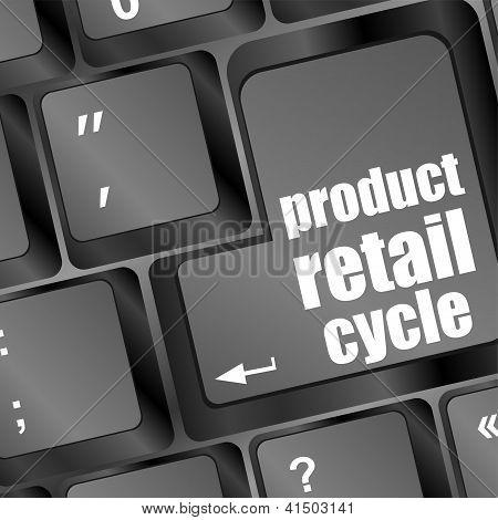 Chave de ciclo de varejo do produto em vez de inserir a chave