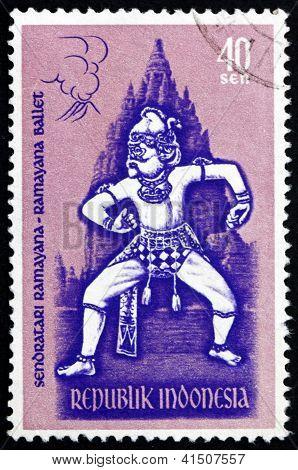 Postage Stamp Indonesia 1962 Hanuman, Ramayana Ballet