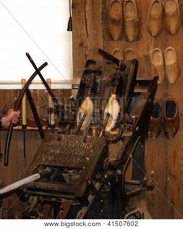 Antique Dutch Wooden Shoes Clogs