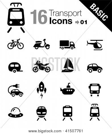 Basic - Transportation icons
