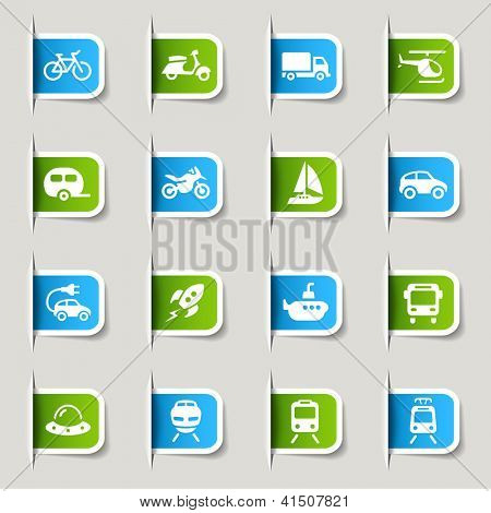 Label - Transportation icons