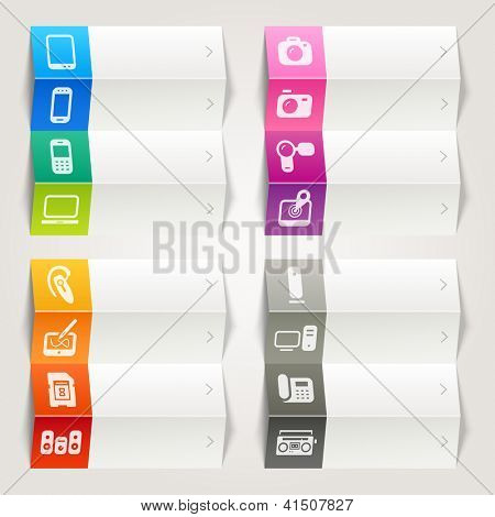 Rainbow - Media icons / Navigation template
