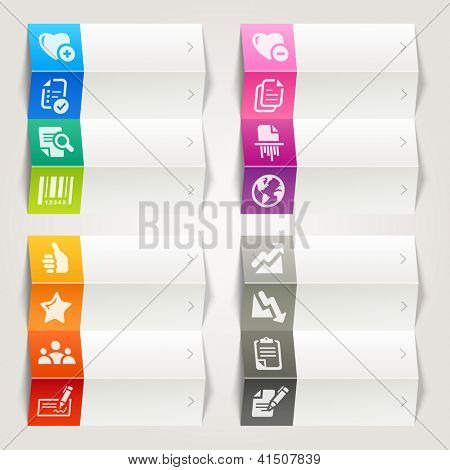 Rainbow - Office and Business icons / Navigation template