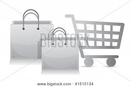 Sales Shopping Cart Concept