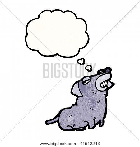 cartoon smug dog