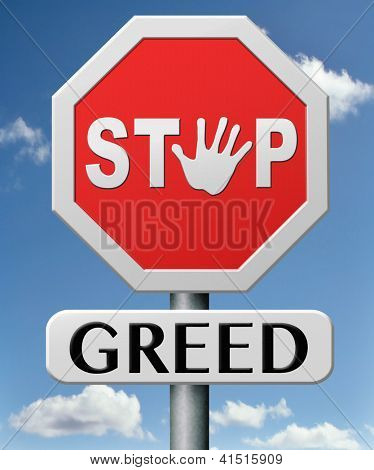 stop greed fair trade and not short term economy but sustainable agriculture and energy
