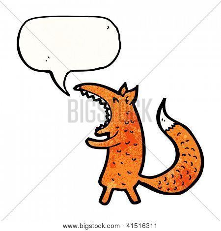 cartoon yawning fox