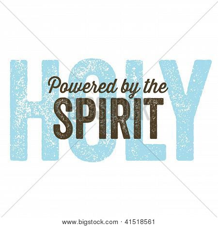 Vintage Christian design - Spirit