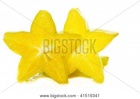 Fresh Starfruits Or The Coromandel Gooseberry