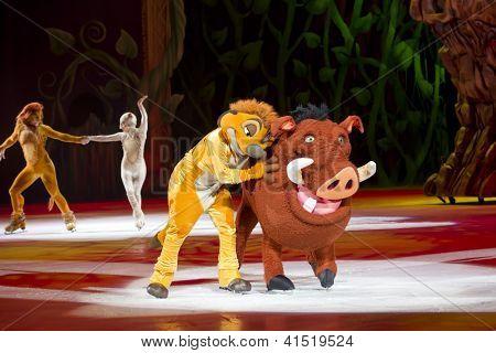 Timon And Pumbaa Hugging