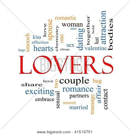 Lovers Word Cloud Concept
