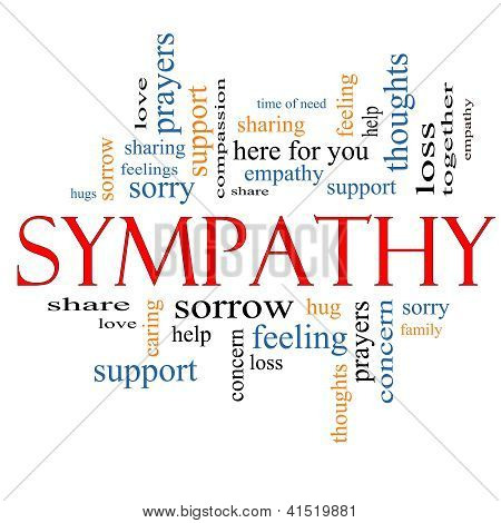 Sympathy Word Cloud Concept