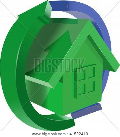 Green House With Arrows