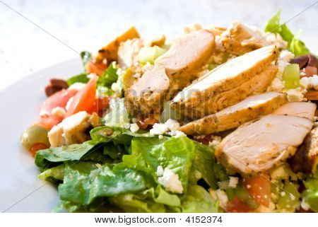 Delicatessen Caesar Salad With Smoked Turkey, Cheese
