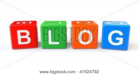 Cubes Blocks With Blog Sign