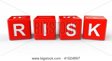 Red cubos blocos com sinal de risco