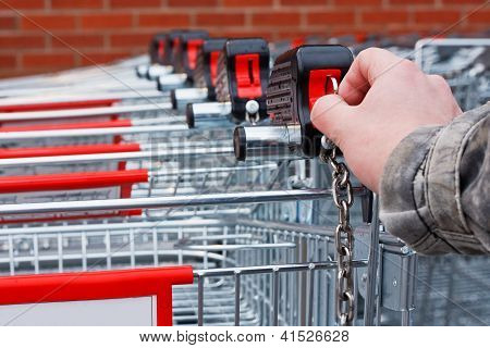 Insert Money Supermarket Shopping Cart