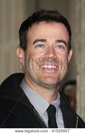LOS ANGELES - JAN 25: Carson Daly at a ceremony where  Jimmy Kimmel is honored with a star on the Hollywood Walk of Fame on January 25, 2013 in Los Angeles, California