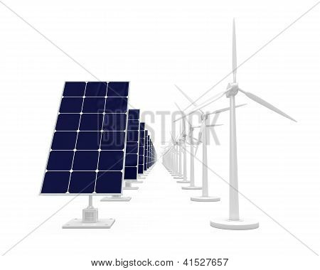 Solar Cell And Wind Generator