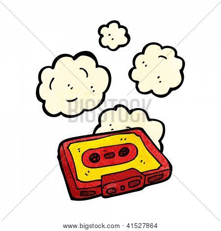 cartoon dusty old cassette tape