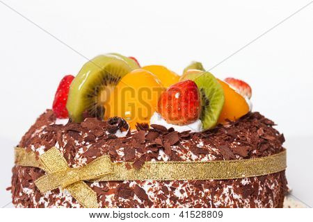 birthday cake isolated over white