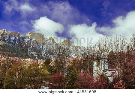 Snowy peaks of the pirineos rockies