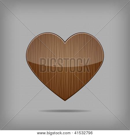Vector Wooden Heart.
