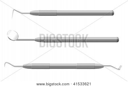 Dental Instruments Vector Illustration