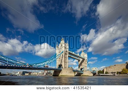 The Famous Tower Bridge In London, Uk