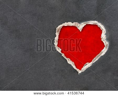 Horizontal valentine background with paper texture