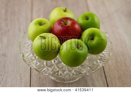 Cake Plate Of Seven Apples