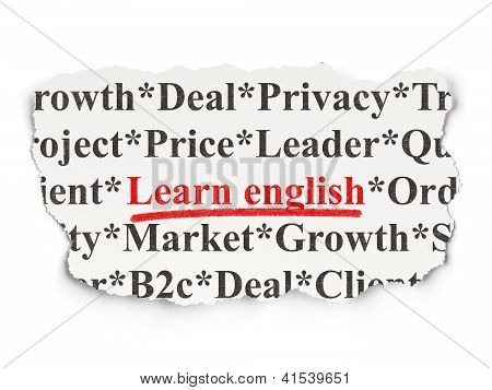 Education concept: Learn English on