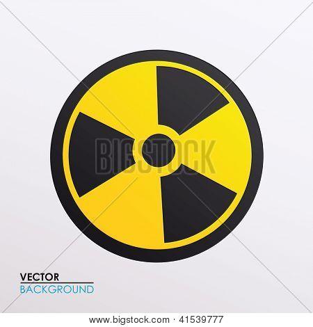 Ilustración de vector de símbolo de la radiación