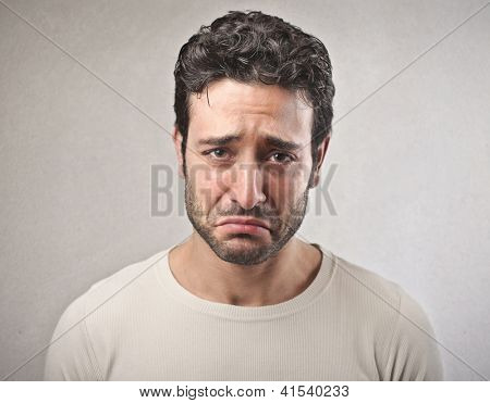 Portrait of a sad man