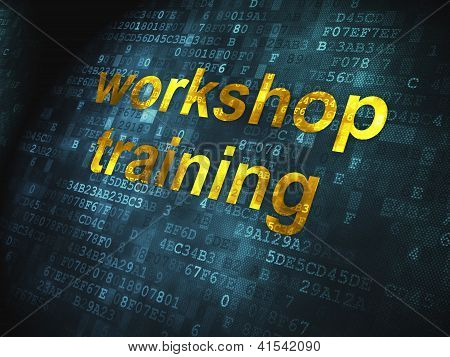Education concept: Workshop Training on digital background