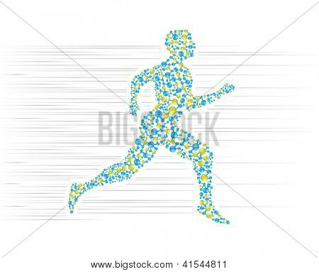 Human body running. Editable vector format in portfolio.