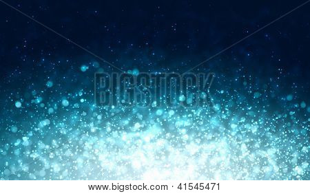 Blue colour bokeh abstract light background. Illustration