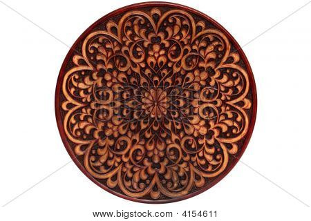 Carved Wooden Plate
