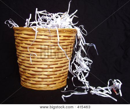 Basket And Paper