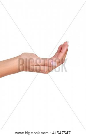 A cupped hand