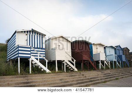 Beach Huts at Walton on the Naze.