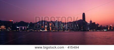 Hongkong Panorama At Dusk