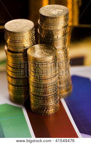 Finance Concept, coins